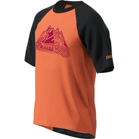 Zimtstern PureFlowz T-shirt Heren, pirate black/living coral/jester red